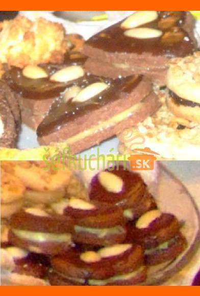 Čokoládové tortičky s bielou plnkou