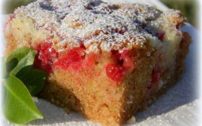 Cuketový koláč s ovocím-
