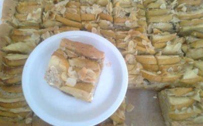 Kysnutý koláč s jablkami a tvarohom