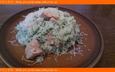 Lososové rizoto