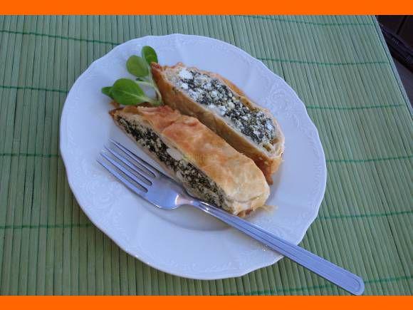 Špenátový závin s ricottou