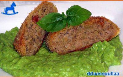 Tuniakovo zeleninové fašírky pečené v rúre na plechu + hráškové pyré