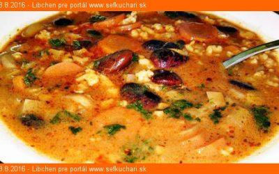 Vegetariánska fazuľová polievka