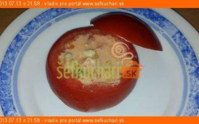 Zapekané paradajky s bryndzovou plnkou