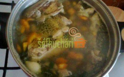 Zeleninovo slepačia polievka